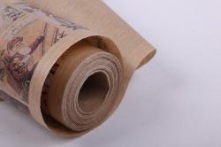 бумага  крафт нов. год открытки с дедом морозом 84 см*10 м