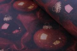 бумага  крафт  нов. год.  шары на красном  0,7*1м (10 лист.) м