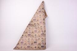 бумага  крафт нов. год снеговики 84 см*10 м