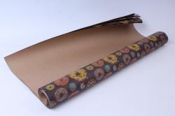 бумага  крафт пончики  0,7*1м в лист. (10 лист.)  78г/м2  undn-k   м