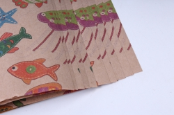 бумага  крафт рыбки  0,7*1м в лист. (10 лист.)  78г/м2  gl005-k   м