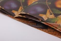 бумага крафт  шары синие  0,7*1м в лист. (10 лист.)