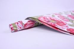бумага  крафтбелый цветы нарцисы  0,7*1м в лист. (10 лист.)