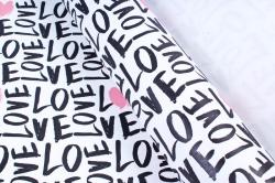 """Бумага 1м*70см Дизайнерская бумага """"Черно-Красная Любовь""""  78г/м2  10шт/уп  (М)  UNCHKL"""