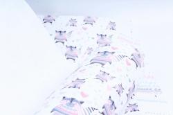 """Бумага 1м*70см Дизайнерская бумага """"Еноты""""  78г/м2  10шт/уп  (М)  UNEN"""