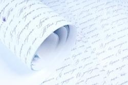 """Бумага 1м*70см Дизайнерская бумага """"Газета Белая""""  78г/м2  10шт/уп  (М) UNGBL"""
