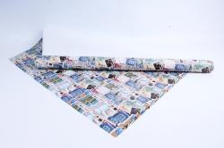 """Бумага 1м*70см Дизайнерская бумага """"Марки""""  78г/м2  10шт/уп  (М)  GP3488"""