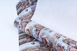 """Бумага 1м*70см Дизайнерская бумага """"Монгольфье""""  78г/м2  10шт/уп  (М)  PinVSH"""
