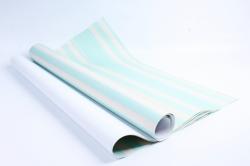 Бумага 1м*70см Дизайнерская бумага Полоски Жёлто-Голубые  78г/м2  10шт/уп  (М)  PinPYB