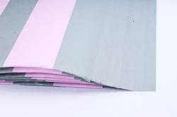 Бумага 1м*70см Дизайнерская бумага Полоски Розово-Серые  78г/м2  10шт/уп  (М)  PinPRG