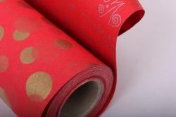 """бумага на золотой основе """"конфетти"""" (красный) 53см*10м gol-1072"""