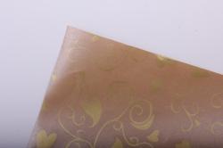 """бумага на золотой основе """"любовь"""" (бежевый) 53см*10м gol-1096"""