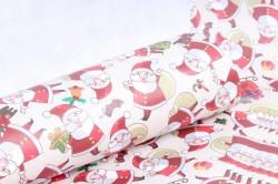 Бумага Нов. Год 1м*70см Дизайнерская бумага Деды Морозы  78г/м2  10шт/уп  PinDM-KB