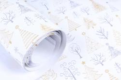 Бумага Нов. Год 1м*70см Дизайнерская бумага Деревца  78г/м2  10шт/уп  PinNW  М