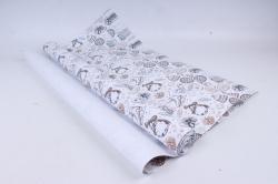 Бумага Нов. Год 1м*70см Дизайнерская бумага Коньки и Шишки 78г/м2  10шт/уп  PinP-KSH