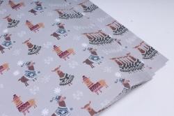 Бумага Нов. Год 1м*70см Дизайнерская бумага Ламы 78г/м2  10шт/уп  PinP-L