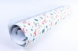 Бумага Нов. Год 1м*70см Дизайнерская бумага Медведи с рыбой  78г/м2  10шт/уп  PinMF  М