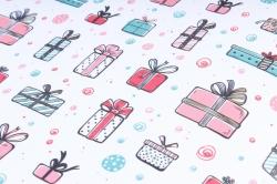 Бумага Нов. Год 1м*70см Дизайнерская бумага Подарки малые  78г/м2  10шт/уп  PinPM-KB  М