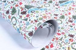 Бумага Нов. Год 1м*70см Дизайнерская бумага Простоквашино  78г/м2  10шт/уп  PinPNG  М