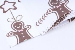Бумага Нов. Год 1м*70см Дизайнерская бумага Пряники  78г/м2  10шт/уп  Pin-KB  М