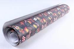 Бумага Нов. Год 1м*70см Дизайнерская бумага  Щелкунчик черный 78г/м2  10шт/уп PinSC-KB   М