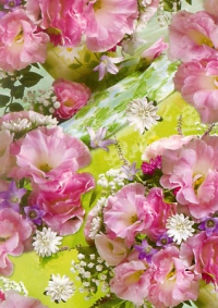 бумага подарочная цветы  0,7х1м в листах 25шт (каждые 5шт. одного рисунка) в ассортименте