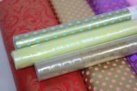 бумага подарочная для цветов (70см х 10м) рисунки и цвета в ассортименте