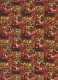 """Бумага подарочная ГЛЯНЕЦ """"Новый год Сочельник"""" 0,7х1м (10 листов)"""