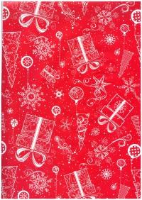 Бумага Подарочная ГЛЯНЕЦ (Новый Год) - Утонченные подарки  0,7х1м (10 листов) М Код 100/219