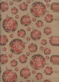 "Бумага подарочная КРАФТ ""Новый год Снежные орбиты"" 0,7х1м (10 листов)"