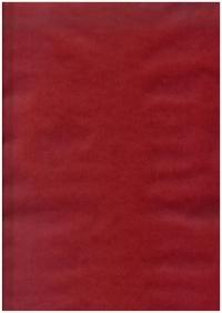 Бумага подарочная КРАФТ Однотонная Красная 0,7х1м в листе (10 листов)