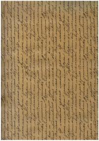 "Бумага подарочная КРАФТ ""Пушкинские строки"" 0,7х1м в листе (10 листов в рулоне)"