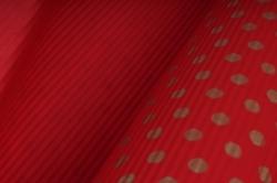 бумага  рифлен. в рул. горох золотой на красном  50см*10м 131210-50/10,,600734
