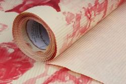 бумага  рифлен. в рул. розы красные на жёлтом  50см*10м 131210-50/10,,600734