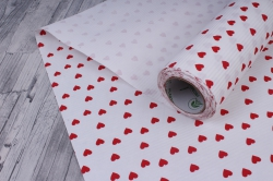 бумага  рифлен. в рул. сердечки красные на белом  50см*10м 131210-50/10,,600734