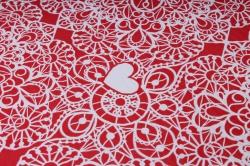 бумага  рифлен. в рул. сердечки-кружево на красном  50см*10м 131210-50/10,,600734