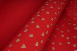 бумага  рифлен. в рул. сердечки золотые на красном  50см*10м 131210-50/10,,600734