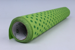 бумага  рифлен. в рул. зелёный горох на салатовом  50см*10м 131210-50/10,,600734
