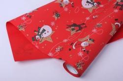 Бумага  рифленая в рулоне Дед Мороз на красном  50см*10м   128631