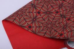 бумага  рифленая в рулоне колейдоскоп на красном  50см*10м   156689