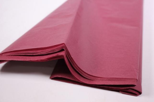бумага тишью 10 шт 50х66 см, бордо