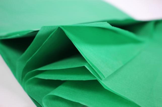 бумага тишью 10 шт 50х66 см, изумрудный
