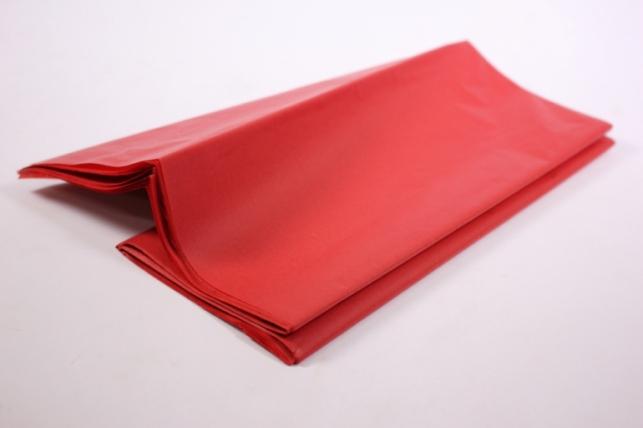бумага тишью 10 шт 50х66 см, красный