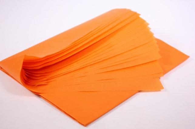 бумага тишью 10 шт 50х66 см, морковный