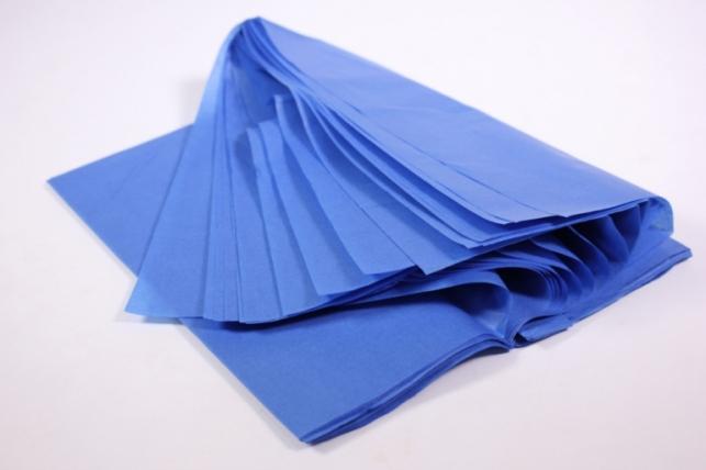 бумага тишью 10 шт 50х66 см, синий