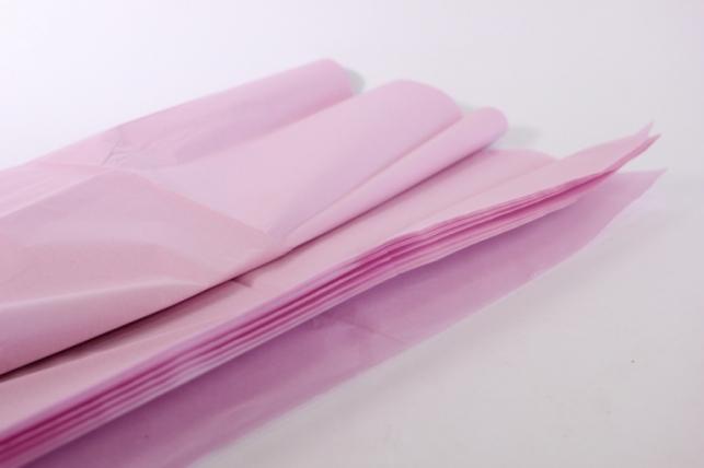 бумага тишью 10 шт 50х66 см, нежно-розовый