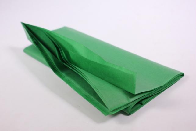 бумага тишью 10 шт 50х66 см, зеленый