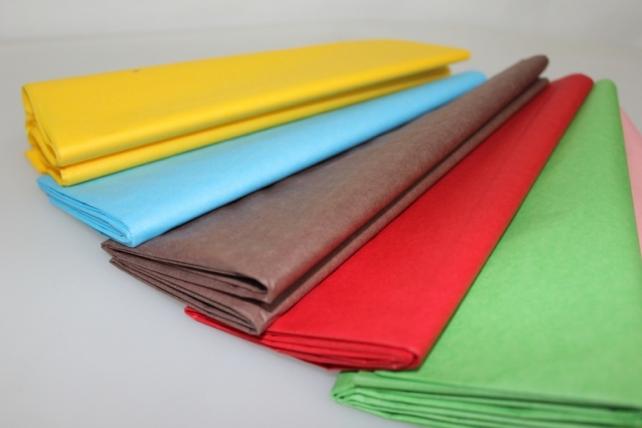 бумага тишью бумага тишью бирюзовая 76х50см (10 листов в уп) 7533