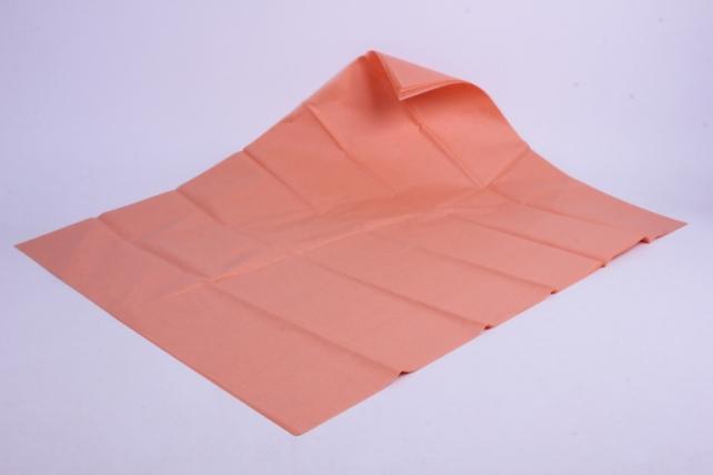 бумага  тишью (ч) персик  50*66см (10 листов в уп)