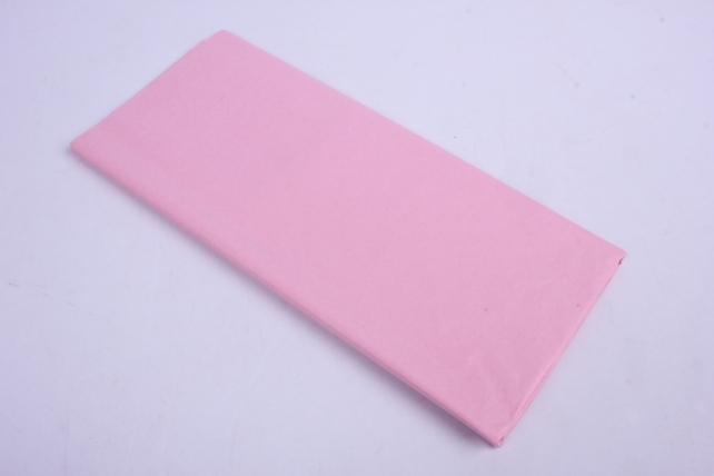 бумага  тишью (ч) светло-розовая  50*66см (10 листов в уп)